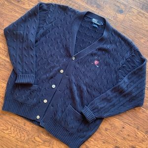 Vintage Polo Ralph Lauren Golf Crest Cardigan